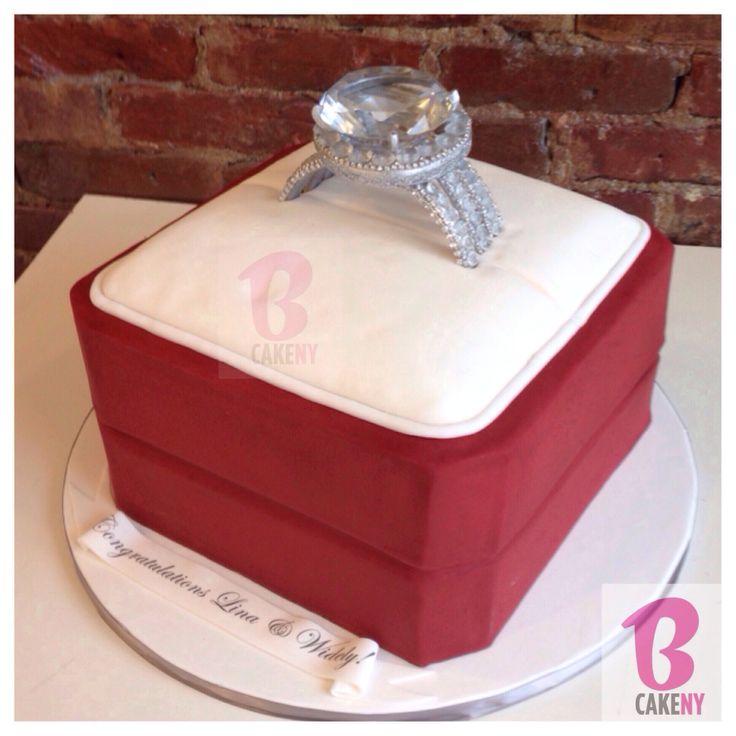 Engagement Ring Cake Decorations : Engagement Ring Cake! #bcakeny BCakeNY CAKES Pinterest