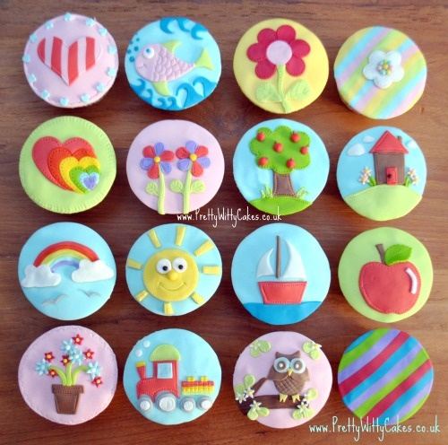Cupcake Decorating Ideas Using Fondant : FOndant cupcakes ideas Pinterest