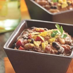 Chili - The addition of peanut butter to this beef and bean chili ...