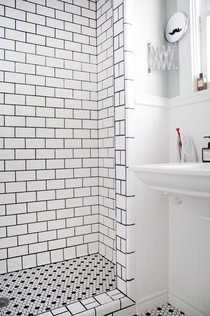 subway tile dark grout Google Search