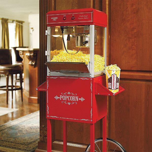 theater room popcorn machine