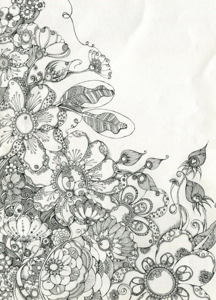great! | Zentangles and printable coloring pages | Pinterest Wedding Bouquet Coloring Pages