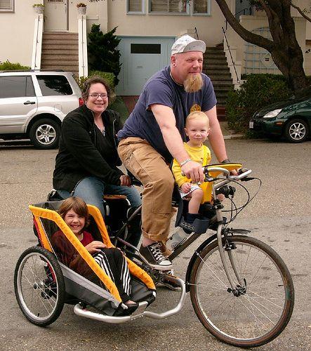 Велосипед с коляской для детей своими руками 64
