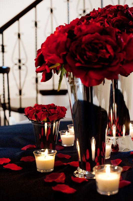 Red rose centerpiece idea wedding style pinterest