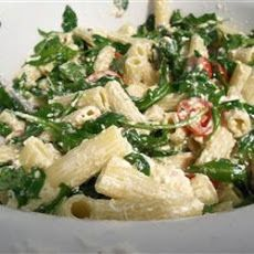 Goat Cheese and Arugula over Penne Recipe