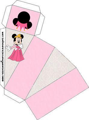 Cajitas de Minnie Princesa para imprimir gratis.
