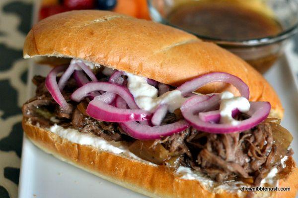 Slow Roasted Balsamic Beef Sandwiches with Horseradish Cream | Recipe
