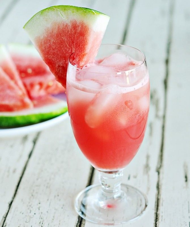 Watermelon Cucumber Prosecco Cooler. Find this recipe at http://www ...