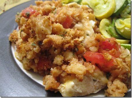 Bruschetta Chicken Bake - This was tasty and super easy!