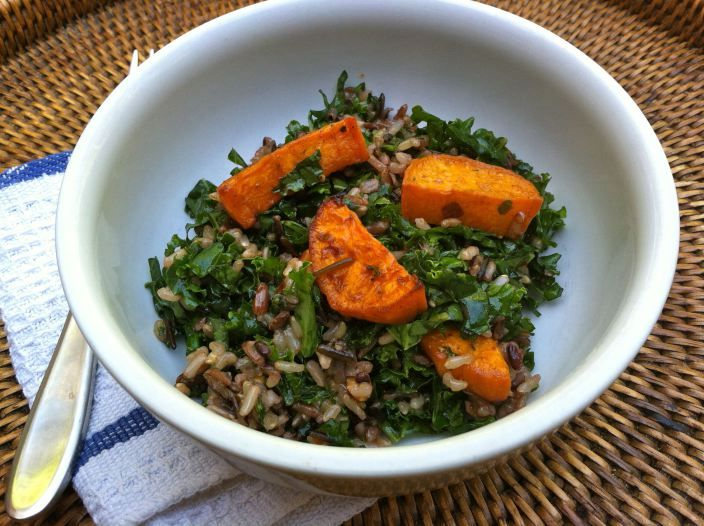 ... Rice Salad with Roasted Sweet Potatoes and Cilantro-Lime Vinaigrette