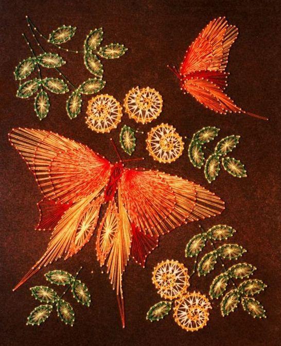 String art butterfly | String art | Pinterest