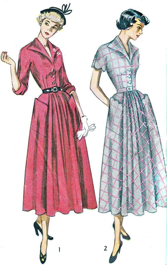 1940s Dress Pattern Simplicity 2920 Flared Skirt by paneenjerez, $18.00