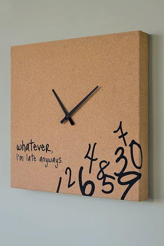 Funny Corkboard Clock