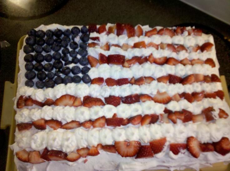 My angel food flag cake. Super easy | I saw. I pinned. I made | Pinte ...