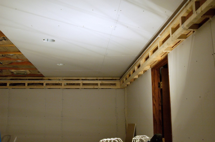 how to install ceiling drywall