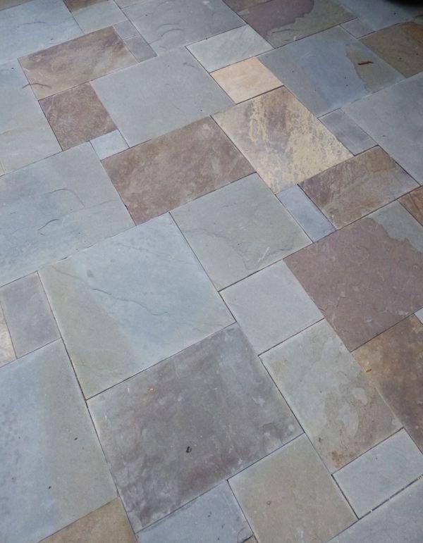 Dimensional Bluestone Dry Laid Patio Backyard Design