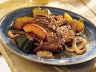 Roast Pork with Apples and Sweet Potatoes Recipe from Betty Crocker