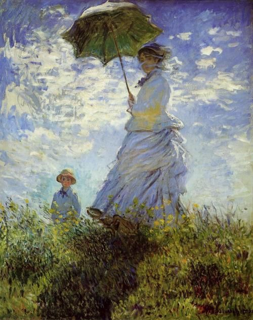Lady with a Parasol Standing Left by Claude Monet.  This is one of my favorite paintings...