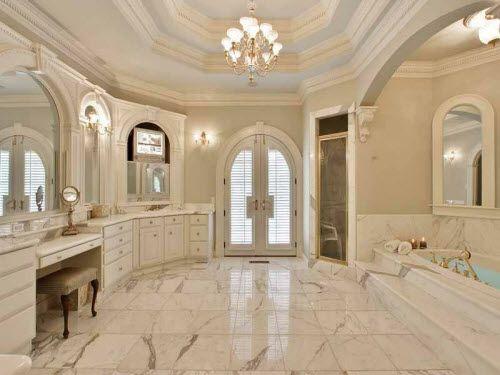 Mansion master bath for the home pinterest for Master bathroom mansion