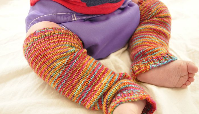 Knit baby leg warmers. DIY Crochet Pinterest