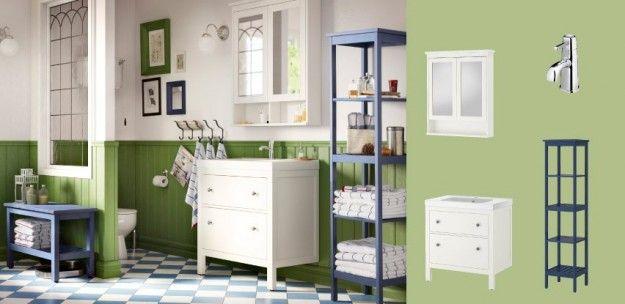 Ikea arredo bagno - Bagno Ikea verde e bianco