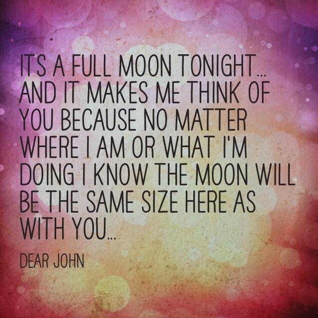 dear john quotes moon - photo #15