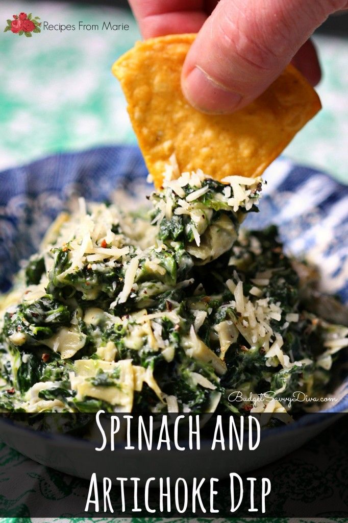 ... Spinach and Artichoke Dip Recipe ( Recipes from Marie) #dip #