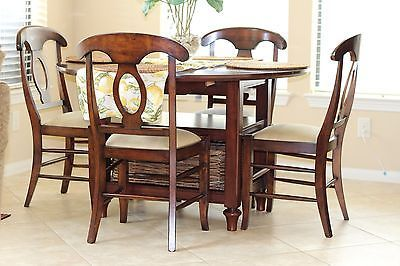 Pottery barn shayne drop leaf kitchen table with 4 chairs - Shayne kitchen table ...