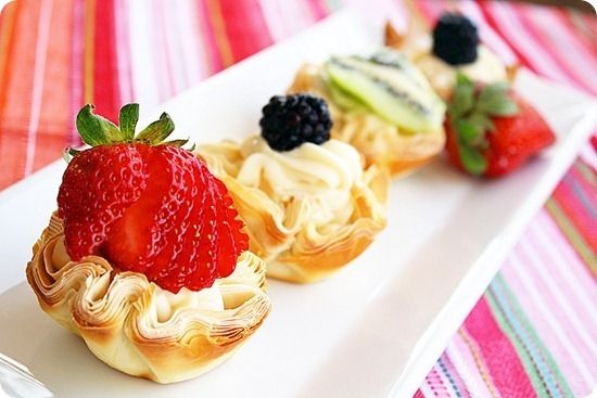 Fresh Fruit Phyllo Tartlettes by comfortofcooking #Fruit_Tarts #Phyllo ...