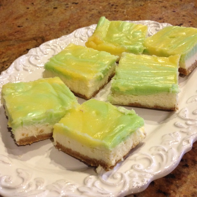 Key lime cheesecake bars! | Books, Movies | Pinterest