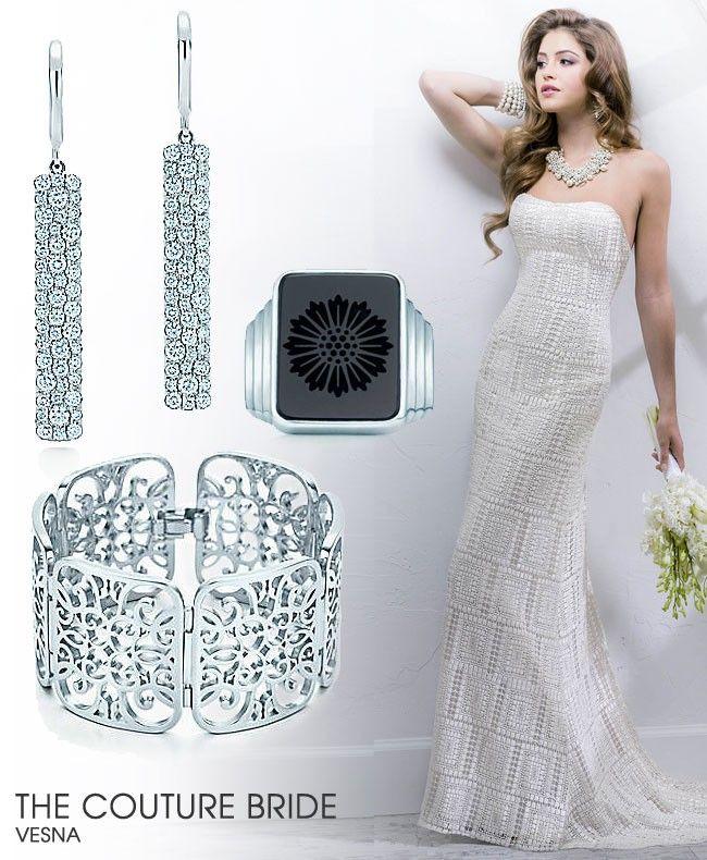 Maggie Sottero Vesna Gown  |  geometric wedding dress