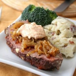 ... Beef Meatloaf with Cajun Mayo - jazz up your meatloaf, Cajun Style