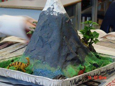 Вулкан своими руками фото