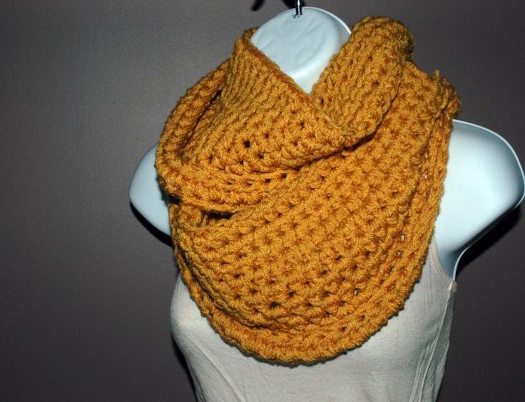 Crocheting Infinity Scarf : Crochet Infinity Scarf