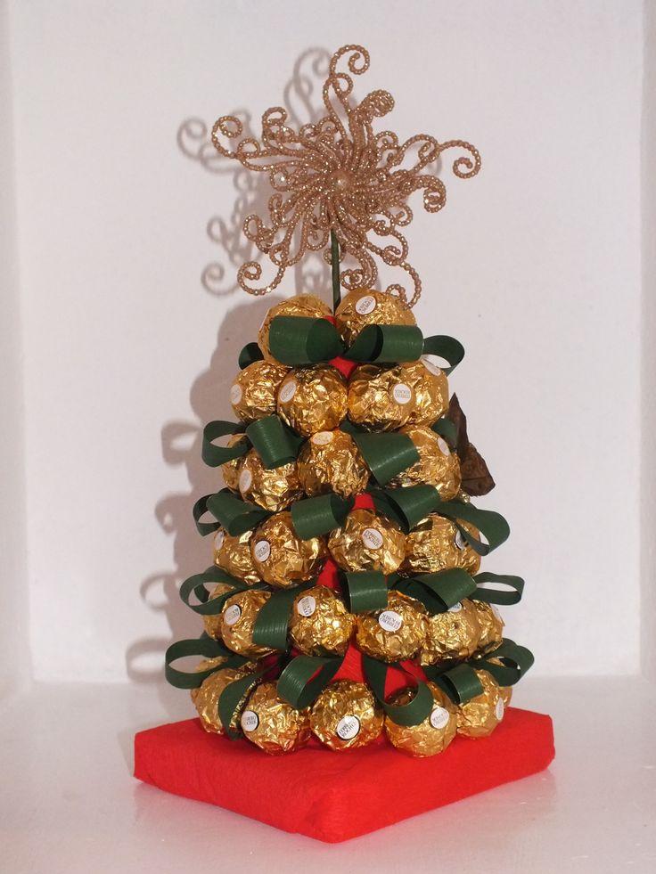 Sorprende a la family el día de Noche Buena o Navidad con este árbol de bombones :D