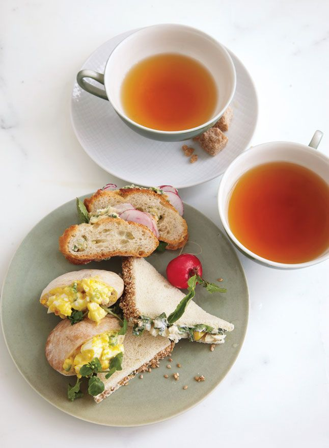 Shaved-Radish Sandwiches with Herb, ButterCurried Egg Salad in Mini ...