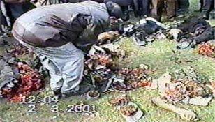 Чечня - опознание останков людей, убитых русскими  в Чечне