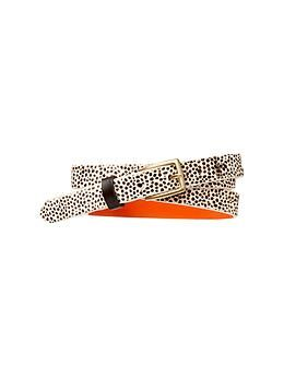 Printed calf hair belt | Gap