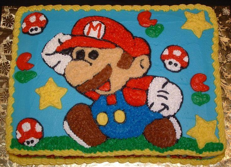 mario sheet cake
