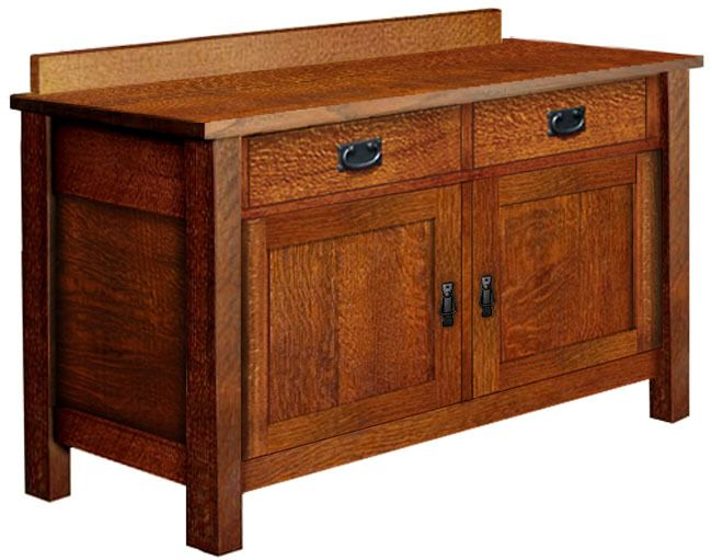 arts crafts mission style buffet sideboard