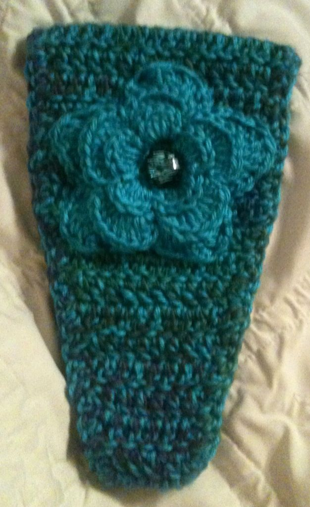 Crocheted ear-warmer Crocheted Pinterest