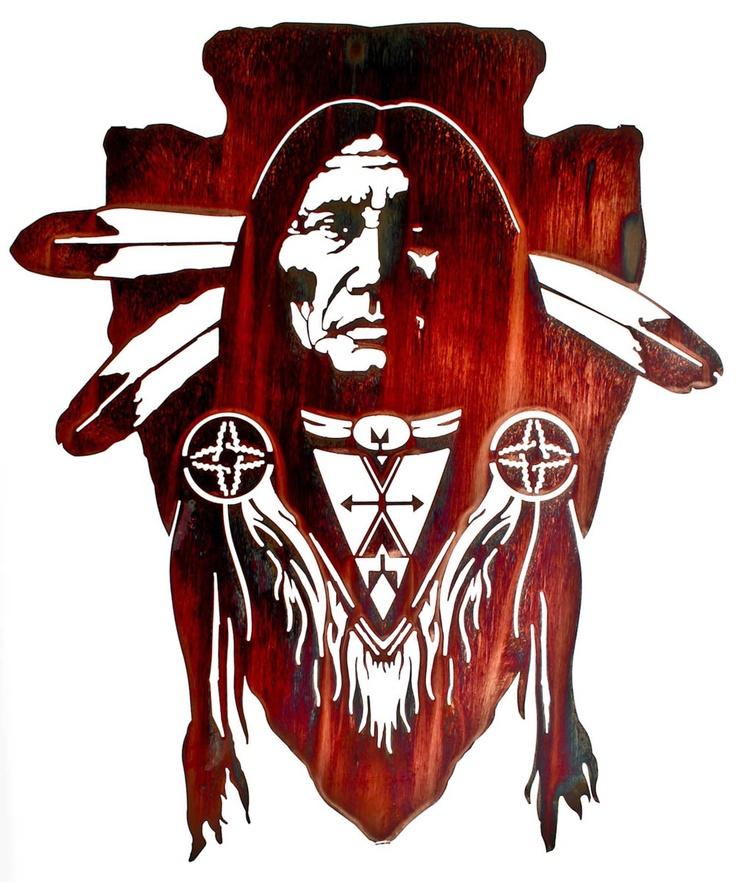 Native American Brave Wall Art Native American Symbols