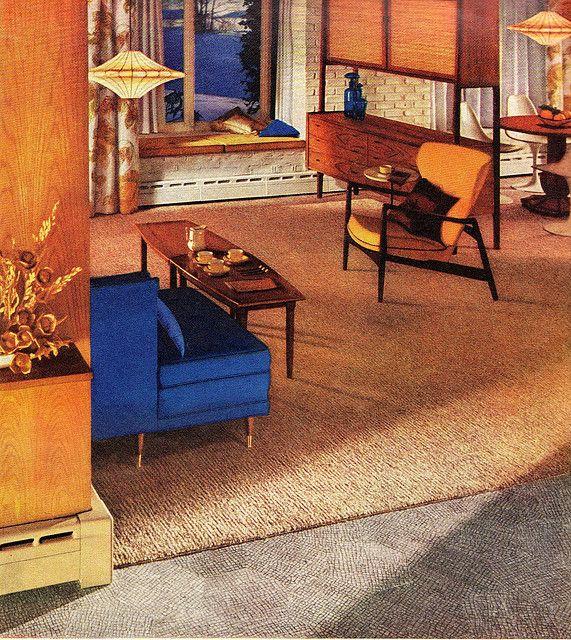 Living room, 1960   The Vintage Home   Pinterest