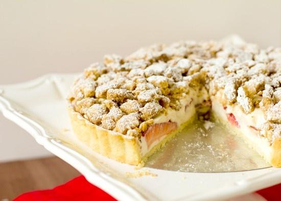 Strawberry Cream Cheese Crumble Tart | Fun Recipe | Pinterest