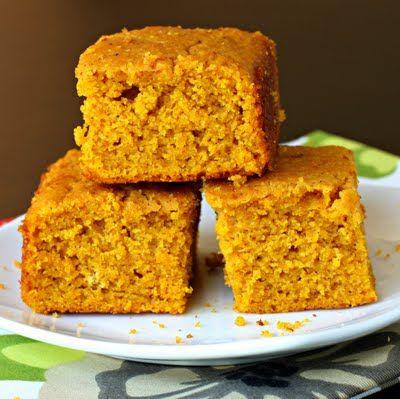 Pumpkin Cornbread~I love anything pumpkin! I'll try wheat flour, less ...