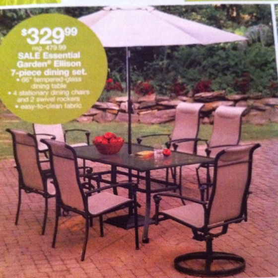 Nice patio furniture from Kmart Outdoor Living Ideas