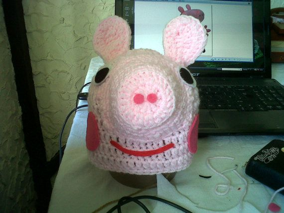 Crochet Pattern Pig Hat : Peppa pig crochet hat Peppa Pig Party Pinterest