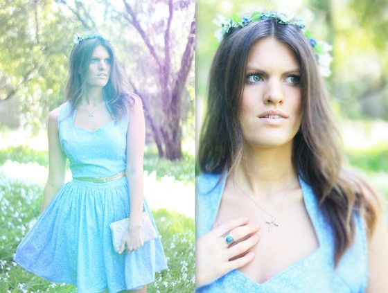 Forget Me Not Flower Crown Dear Miss Pretty Forget Me Not Dress