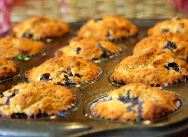 Vegan Blueberry-Coconut Muffins #recipe via @complete180ntr