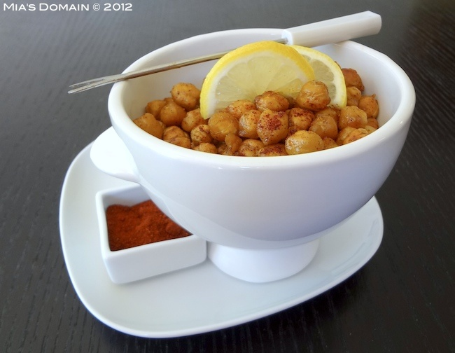 Mia's Domain   Real Food...crispy sweet and spicy chickpeas
